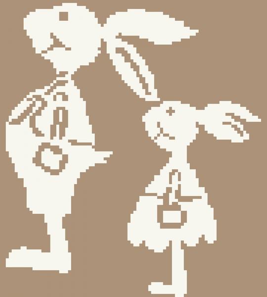 Kreuzstichanleitung Hasen-Papa mit Morle