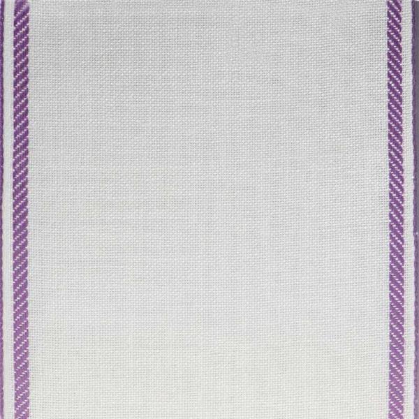 Leinenband mit violettem Rand