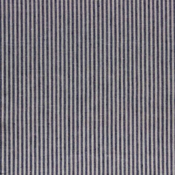 Reinleinen gestreift dunkelblau-natur