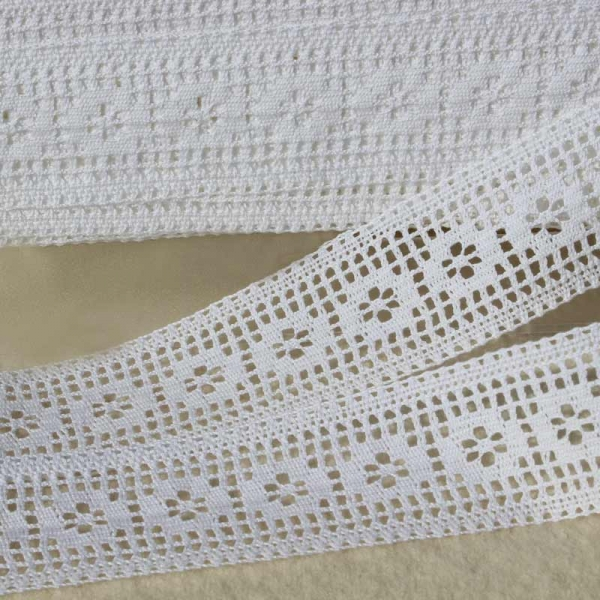 Baumwollspitze weiß