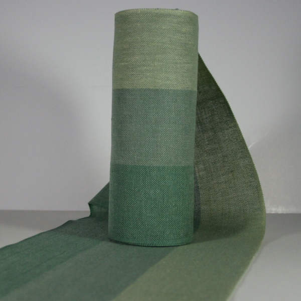 Leinenband dreifarbig, 20 cm breit