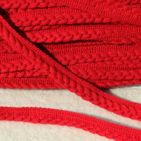 Zopfband rot - einseitig