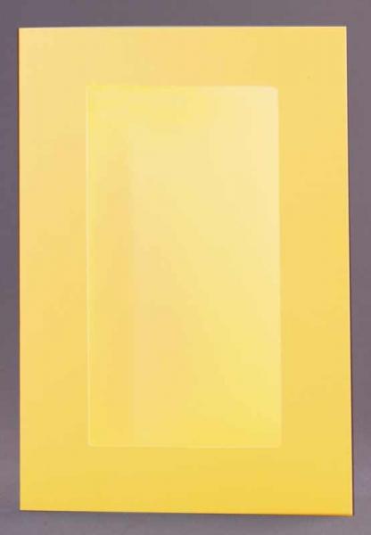Passepartout-Karte gelb