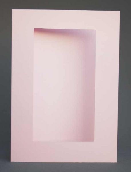 Passepartout-Karte rosa hell