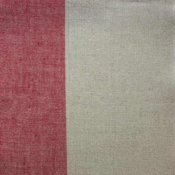 Leinenband, 100 cm, natur/rot, 26 cm breit