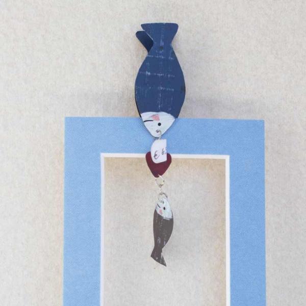 Fischklammer blau