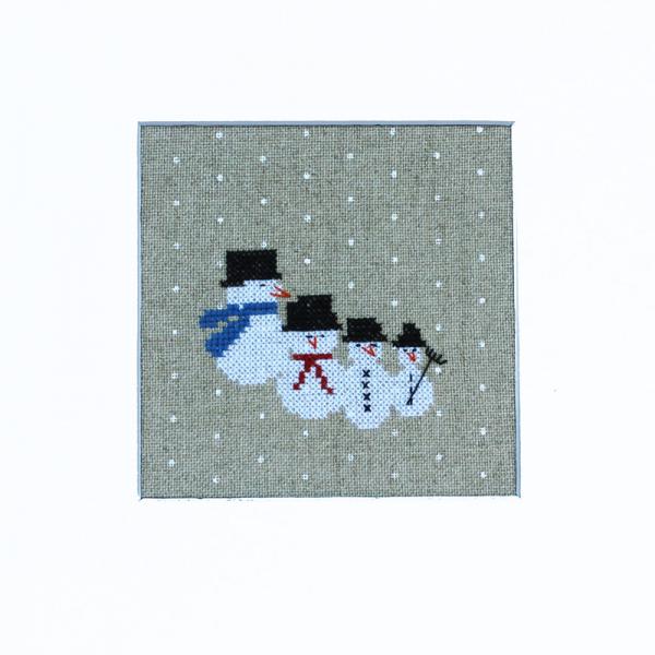 Stickpackung Die kleine Schneemann-Familie