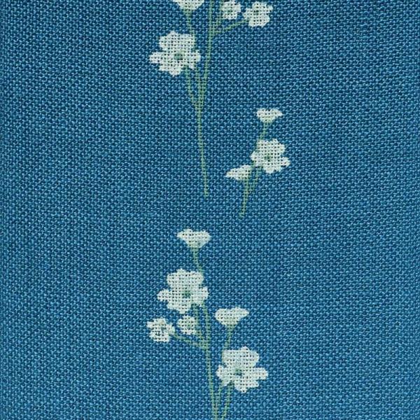 Leinenband mit bedruckten Blumen