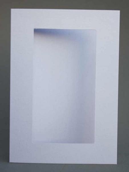 Passepartout-Karte hellblau