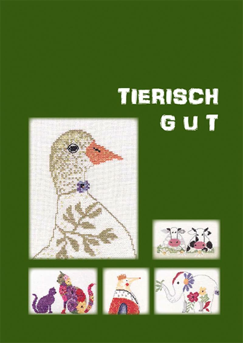 Stickbuch Tierisch gut | Bücher | Stickvorlagen | MWi Stickgalerie