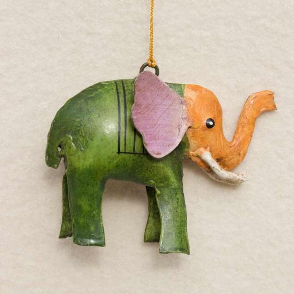 Elefant Metall zum Hängen grün