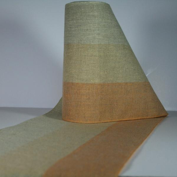 Leinenband dreifarbig, 200 cm breit
