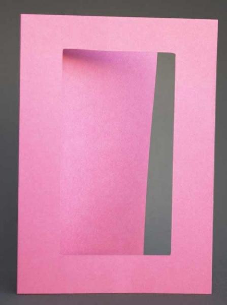 Passepartout-Karte rosa dunkel