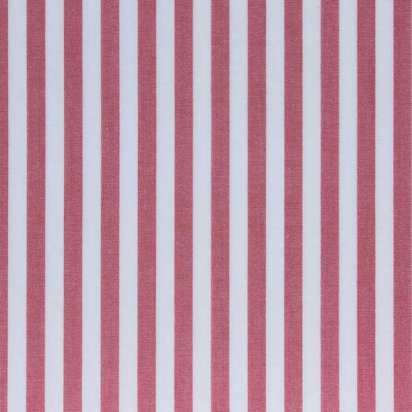 Baumwollstoff Streifen breit rot weiß