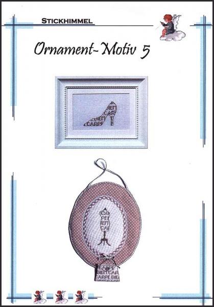 Kreuzstichanleitung 'Ornament Motiv 5
