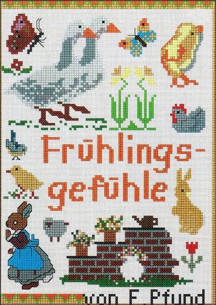 Kreuzstichheft FRÜHLINGSGEFÜHLE von Friederike Pfund