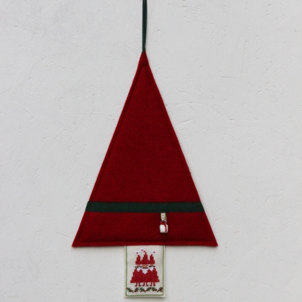Materialpackung Tannenbaum rot