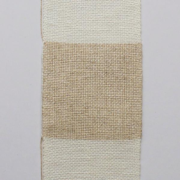 Leinenband 10 cm natur, 10 cm gebleicht, 10 cm breit