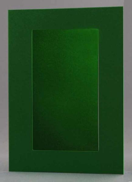 Passepartout-Karte dunkelgrün