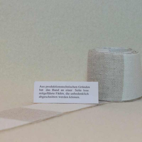 Leinenband weiß-natur