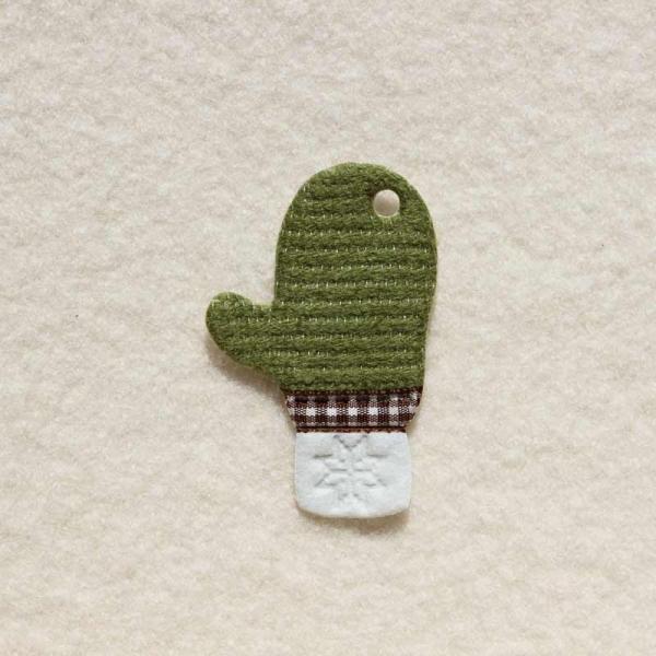 Filzanhänger Handschuh grün