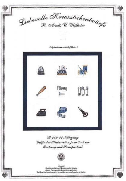 Kreuzstichpackung Nähzeug B-159-11 von Liebevolle Kreuzstichentwürfe