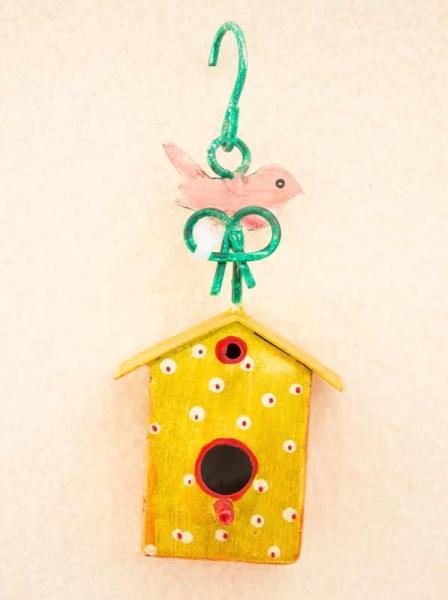 Vogelhaus Metall zur Dekoration