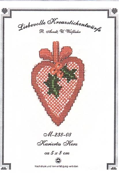 Stickpackung 'Kariertes Herz'