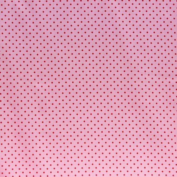 Baumwollstoff mit Punkten rosa rot