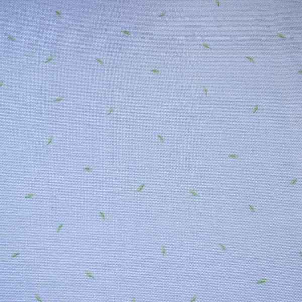 Leinenband weiß mit grünen Blättchen