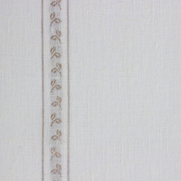 Leinenband mit Blätterstreifen gebleicht