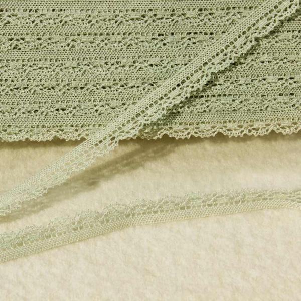 Klöppelspitze lindgrün