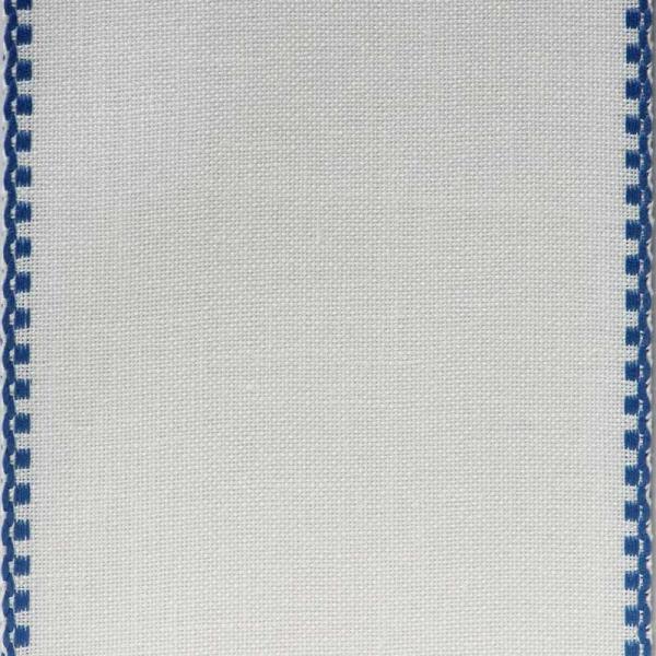 Leinenband mit blauem Rand