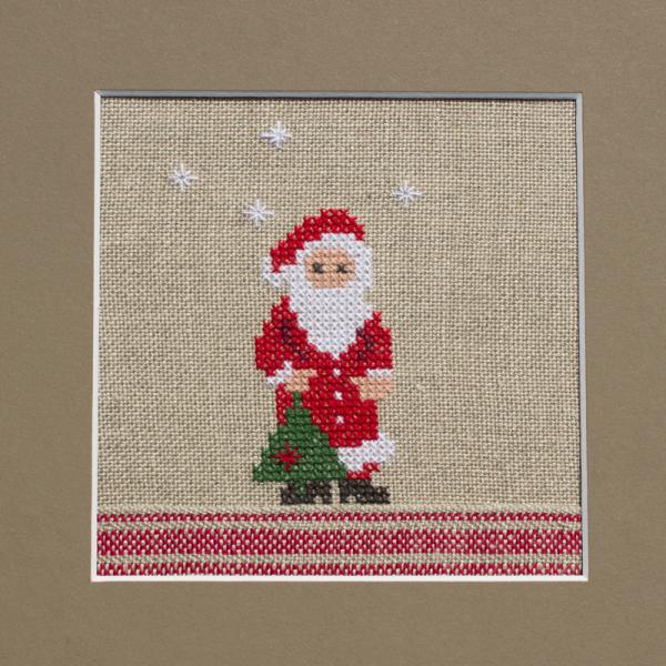 Stickpackung Nikolaus mit Tannenbaum