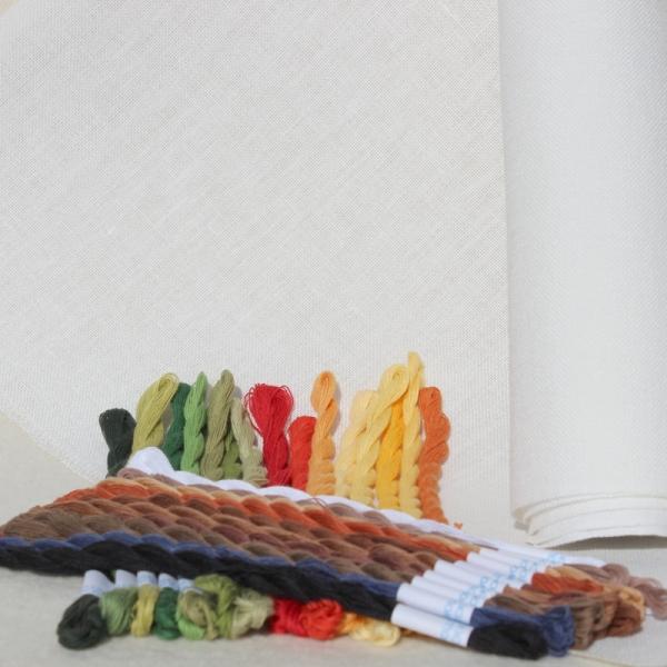 MaterialPackung Leinen und Garn für Motiv KÜCHENMUSTERTUCH