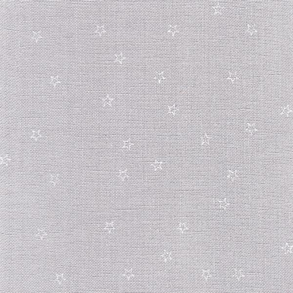 Leinenband hellgrau, bedruckt mit weißen Sternen