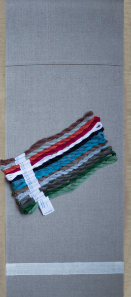 Materialpackung Schneemann mit Garn