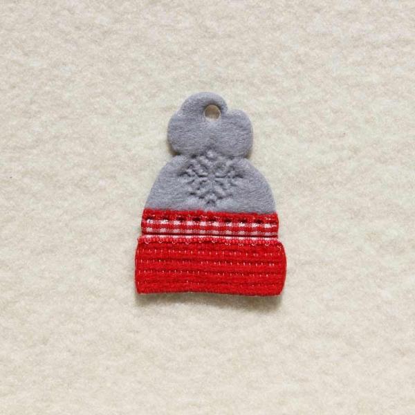 Filzanhänger Mütze rot