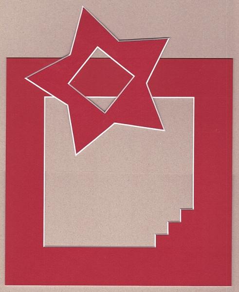 Treppen-Passepartout mit Stern