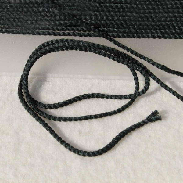 Baumwollkordel dunkelgrün 2 mm
