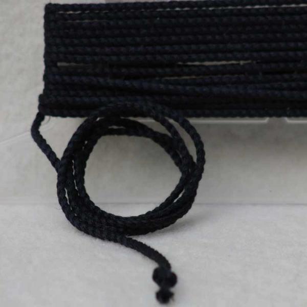 Leinenkordel schwarz Farbe 217