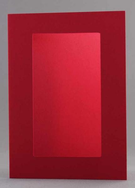 Passepartout-Karte rot