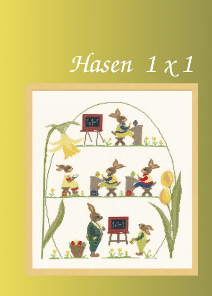 Stickvorlage Hasen 1x1