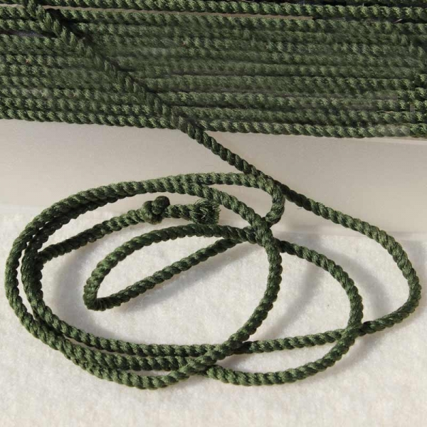 Baumwollkordel oliv 2 mm