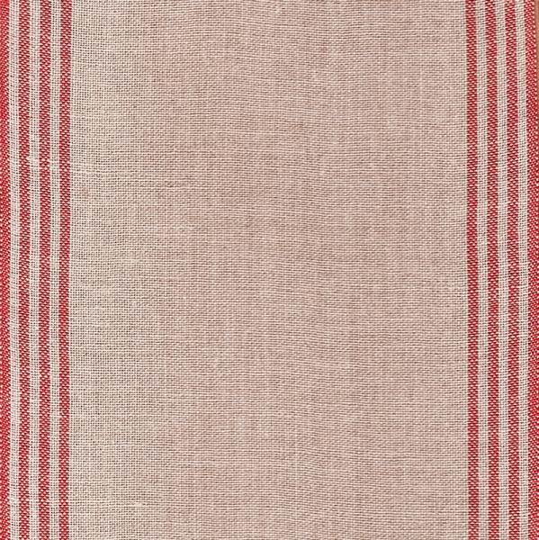 45 cm Leinenband natur mit roten Randstreifen, 34 cm breit