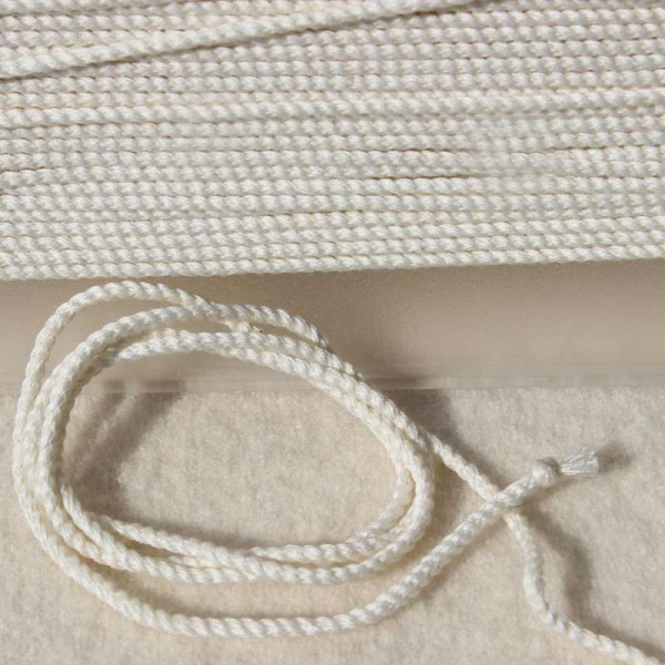 Baumwollkordel gebleicht 2mm
