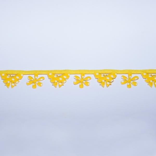 Dekoband Schmetterling gelb