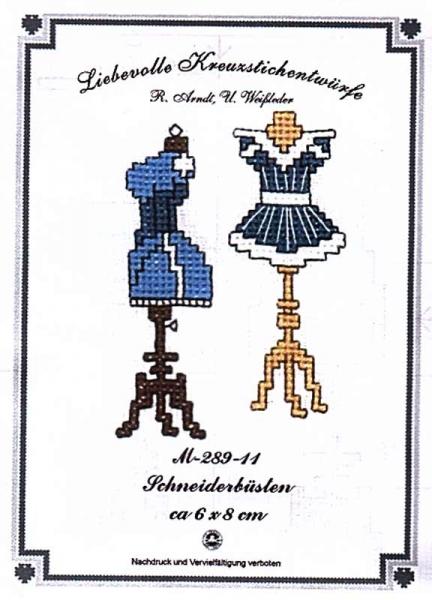 Stickpackung 'Schneiderbüsten'
