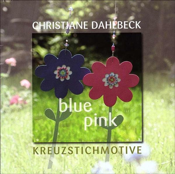 Kreuzstichheft BLUE PINK von Christiane Dahlbeck